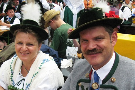 Bavarian Couple in Traditional Dress
