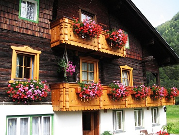 The Typical Alpine House in Heiligenblut, Austria