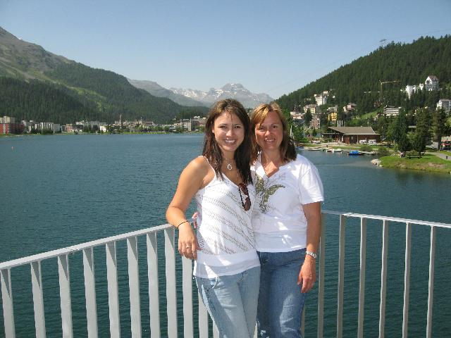 Sandy and Connie Chan at St. Moritz